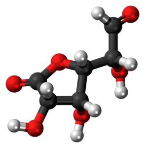 587px-Glucuronolactone-(aldehyde)-3D-balls