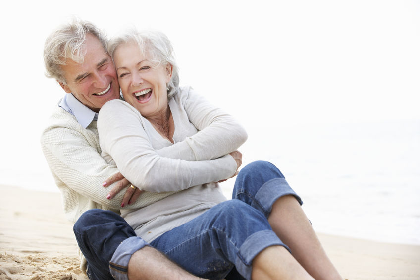 Maca Root Libido Boosting Support by Targeted Nutrients - senior couple sitting on beach together