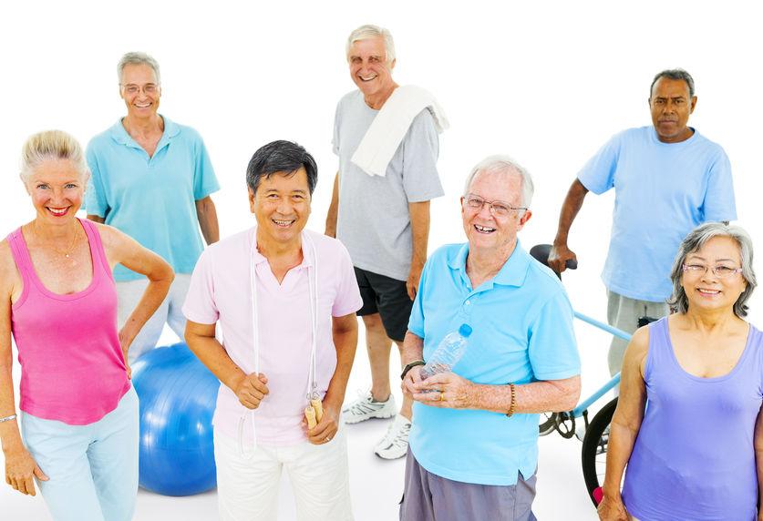 Senior adults exercising - Energy boosting D-Ribose