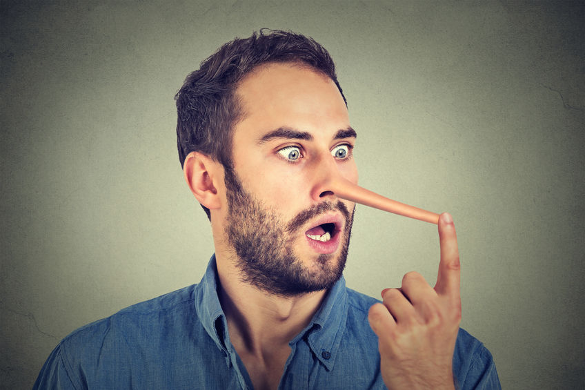 Man with long nose shocked surprised - Lies about dietary supplements
