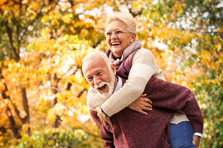 Older couple having fun - One Natural Hormone, Nine Profound Benefits