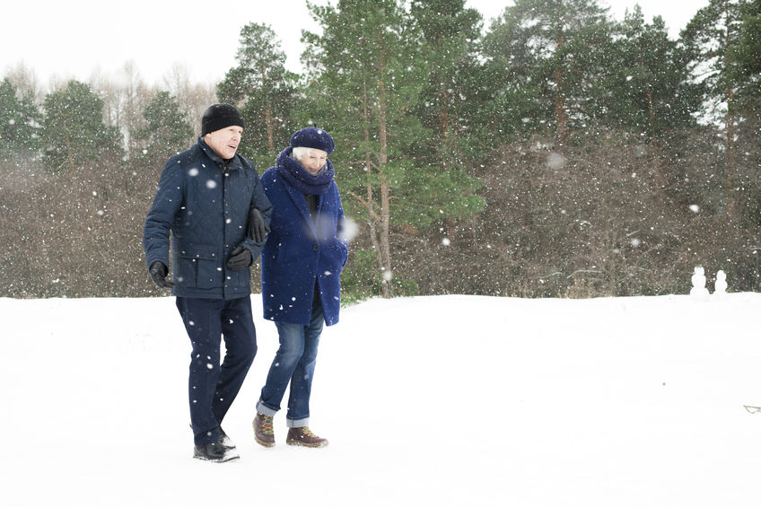 Senior Couple in Winter Forest - How to Boost Your Immune Response Naturally!