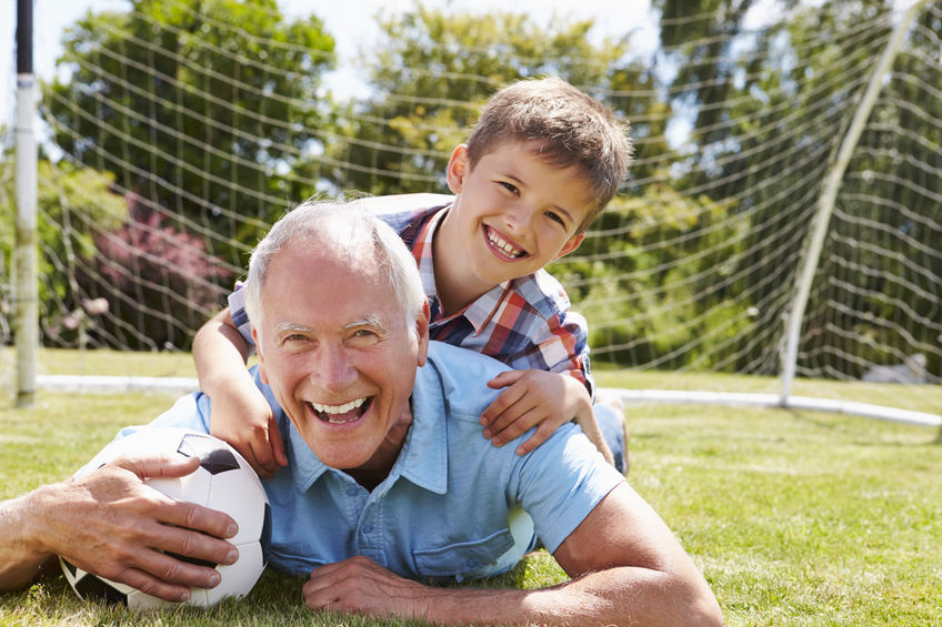 """Portrait Of Grandfather And Grandson With Football - Your D-Ribose Stories: """"...Unbelievable Energy and Endurance!"""""""