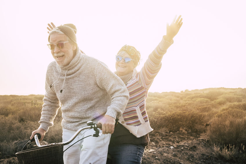 Happiness for active senior retired people lifestyle concept - Use D-Ribose for an Energy Boost…Just Like Athletes Do!