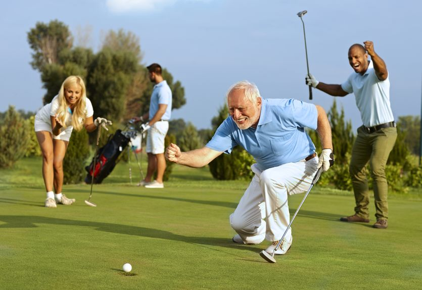 Senior golfer putting - Reduce Inflammation Long-Term, Safely and Naturally!