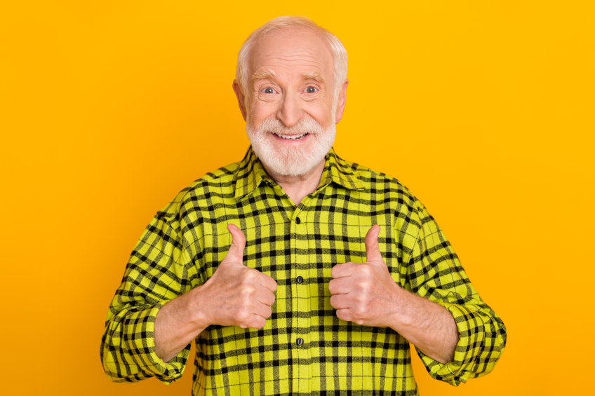 Cheerful man happy positive smile showing thumbs-up - Not Just for Energy: Caffeine Has Natural Healing Benefits!