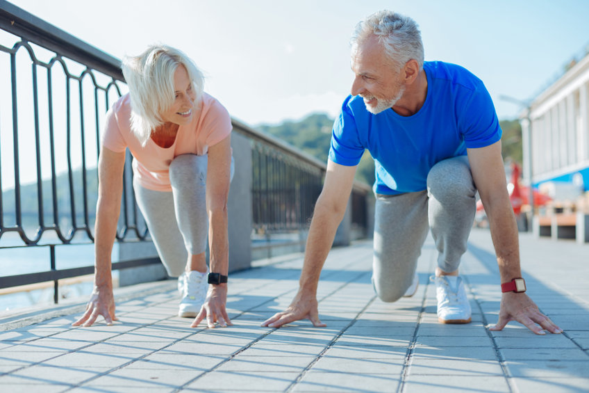Cheerful senior couple being in starting position - The Surprising Heart-Health Benefits of D-Ribose!