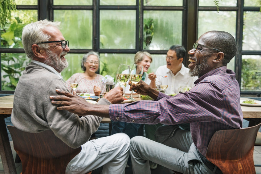 Group of Seniors Meet up Happiness Concept - How Blood Flow Can Impact Your Cognitive Function as You Age