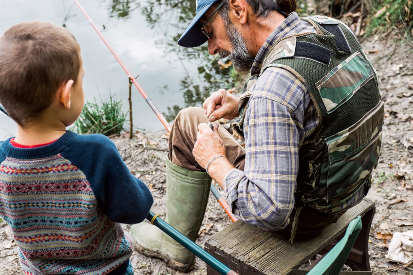 Man and his grandson fishing - Fight Joint Pain and Enjoy Life Again With This Natural Substance!